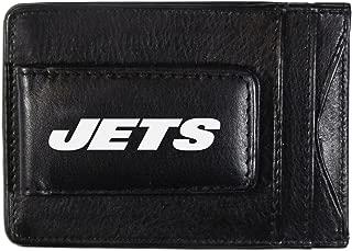 NFL New York Jets Logo Leather Cash & Cardholder, Black