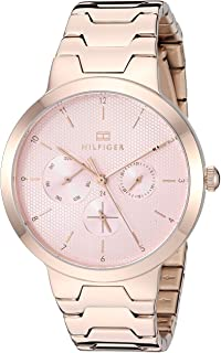 Tommy Hilfiger Women's Quartz Watch with Stainless Steel Strap, Carnation, 18 (Model: 1782076)