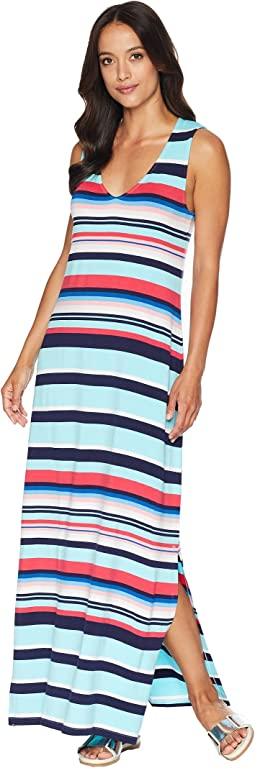 Sporting Stripe Maxi Dress Cover-Up