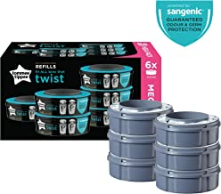 Tommee Tippee Twist and Click Advanced Nappy Disposal Sangenic Tec Refills, Pack of 6 (Compatible with Sangenic Tec, Twist and Click Bins)