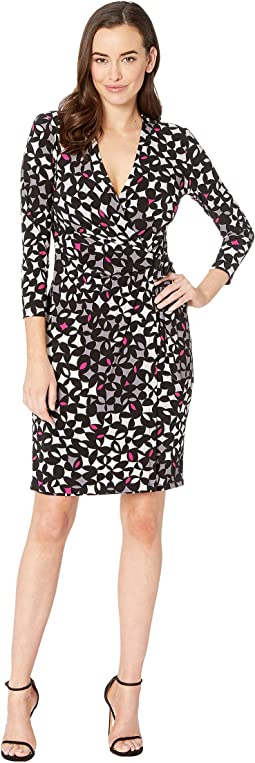 Printed ITY Classic Wrap Dress