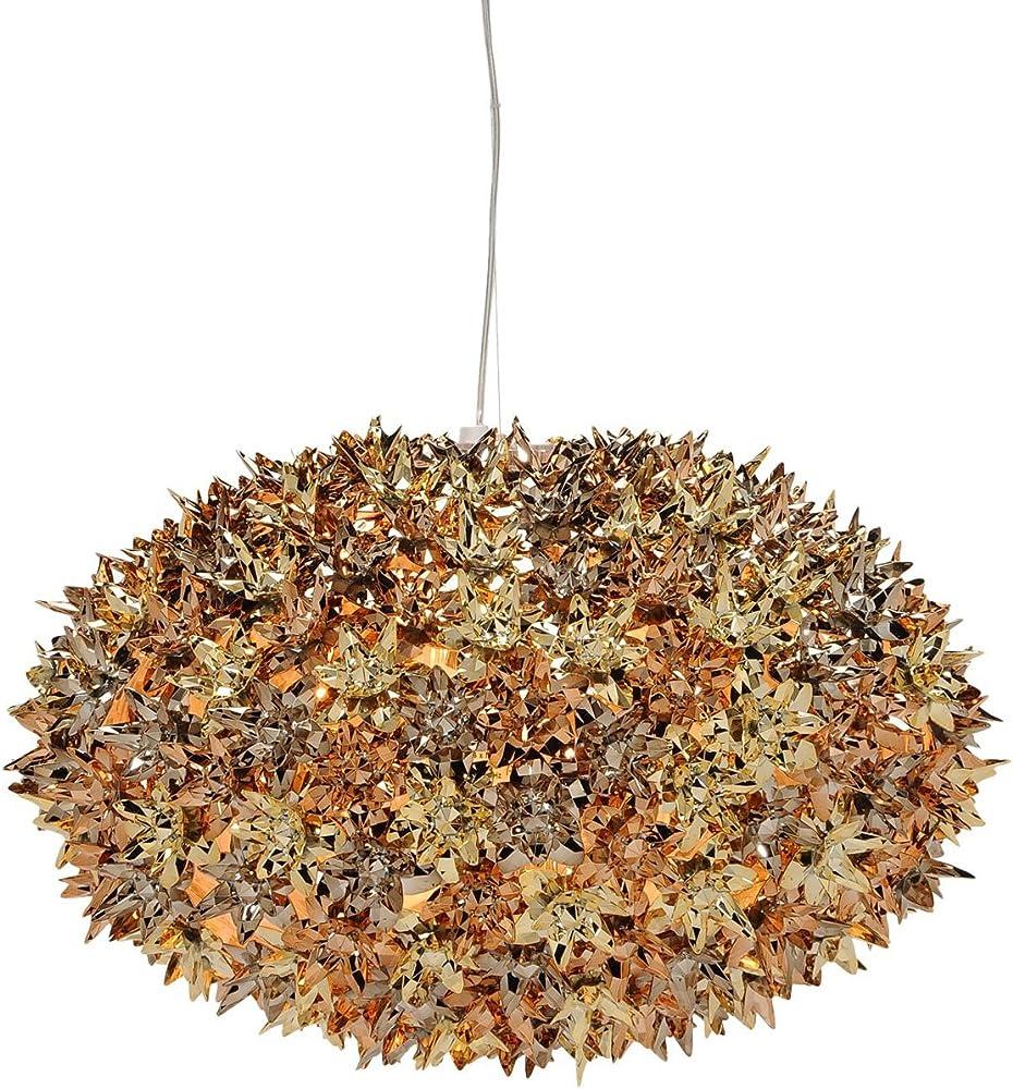 Kartell bloom, lampada a sospensione, media, multicolore (oro/bronzo/rosa) 09268XR