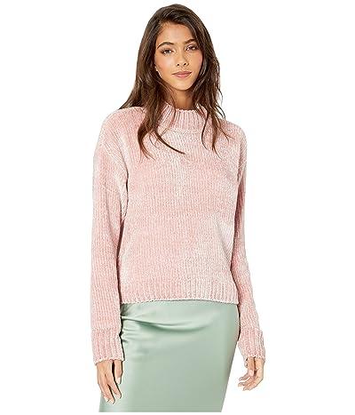 Sanctuary Chenille Mock Neck Sweater (Rose Quartz) Women