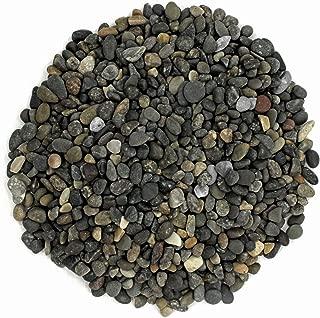 Royal Ram Natural Black Mexican Pea Gravel & Pebbles – (2 Pounds) Size 1/8