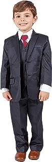 Traje formal azul marino para niños de 5 piezas, ideal para bodas (0–3meses–14 años)
