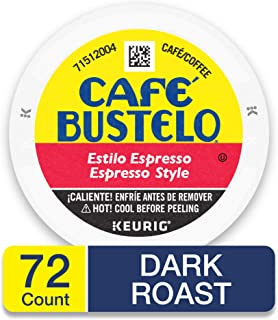 Café Bustelo Espresso Style Dark Roast Espresso Style Coffee, 72 K Cups for Keurig Makers