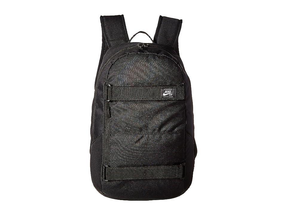 Nike SB Courthouse Backpack (Black/Black/White) Backpack Bags