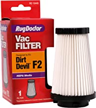 Rug Doctor Dirt Devil F2 Vacuum Replacement Filter, Made from HEPA Material and Fitted Rubber Endcaps, Designed to Fit Dirt Devil Uprights and Filter out Dust and Allergens