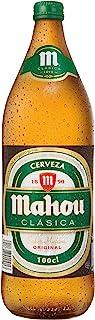 Mahou Clásica - Botella Cerveza Dorada Lager, 4.8% de Volumen de Alcohol - Botella de 1 Litro