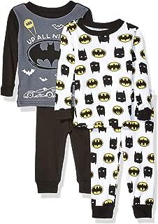 DC Comics 男婴蝙蝠侠 4 件套棉质睡衣套装