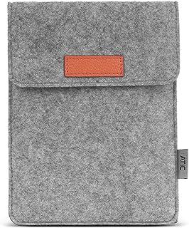 スリーブケース ATiC New Kindle 第10世代 2019年モデル/Kindle 第8世代 2016/Kindle Paperwhite 第10世代 2018/Kindle Voyage (第7世代)2014/他の6インチタブレット用 収納ケース/バッグ Light GRAY(ポケット付き、内部フランネル)