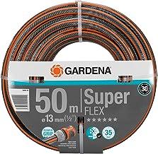 """GARDENA Premium SuperFLEX slang 13 mm (1/2"""") 50 m: Tuinslang met Power Grip profiel, 35 bar barstdruk, zeer flexibel, vorm..."""