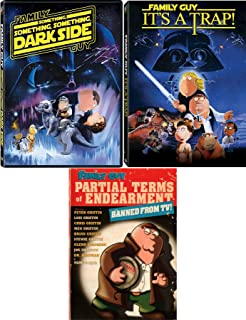 Some Guy's Family Star Wars Spoof It's A Trap & Something Darkside + Partial Terms of Endearment Banned from TV DVD Peter Griffin Seth McFarlane Family Guy Cartoon 3 Pack