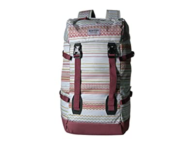Burton Tinder 2.0 Backpack (Aqua Gray Revel Stripe Print) Backpack Bags