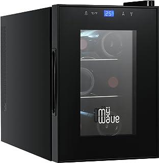 comprar comparacion MyWave Vinoteca 6 Botellas MWWT 6B Vertical Capacidad de 20 Litros 70W de Potencia Enfriamiento Termoelectrico Color Negro