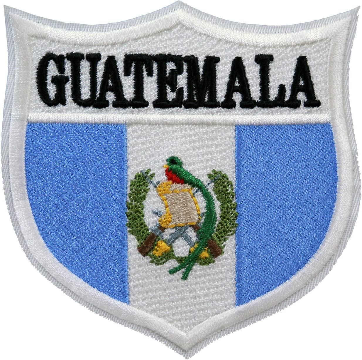 World Flags Embroidered Patch Shield 3