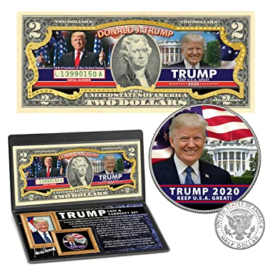 President Donald Trump 2020 Genuine $2 Bill and Coin Set - 45th President