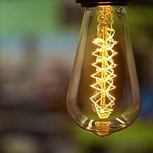 Sister-A Vintage Light Bulbs Filament Light Bulbs Edison bulbs ST64 /T45 E27 40W Dimmable Squirrel Cage Filament Edison Light Bulb for Restaurant Home Office Light Fixtures Decorative (ST64H)