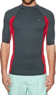 O'Neill Premium Skins Short Sleeve Quick Dry Lightweight Rash Vest Top Graphite Red - UV Sun Protection and SPF Properties