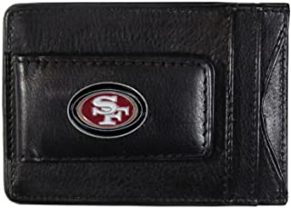Siskiyou NFL Leather Money Clip Cardholder