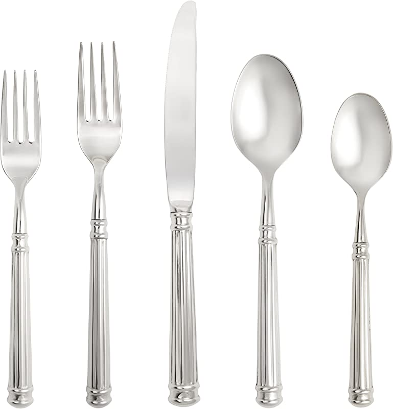 Fortessa Piece Nyssa 18 10 Stainless Steel Hollow Handle Flatware 20 Piece Place Setting Service For 4