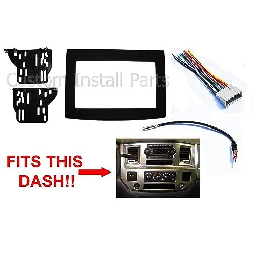 Amazon Black Dodge Ram Radio Stereo Double Din Dash Install Kit Rhamazon: 2007 Dodge Ram 3d Wiring Diagram At Gmaili.net
