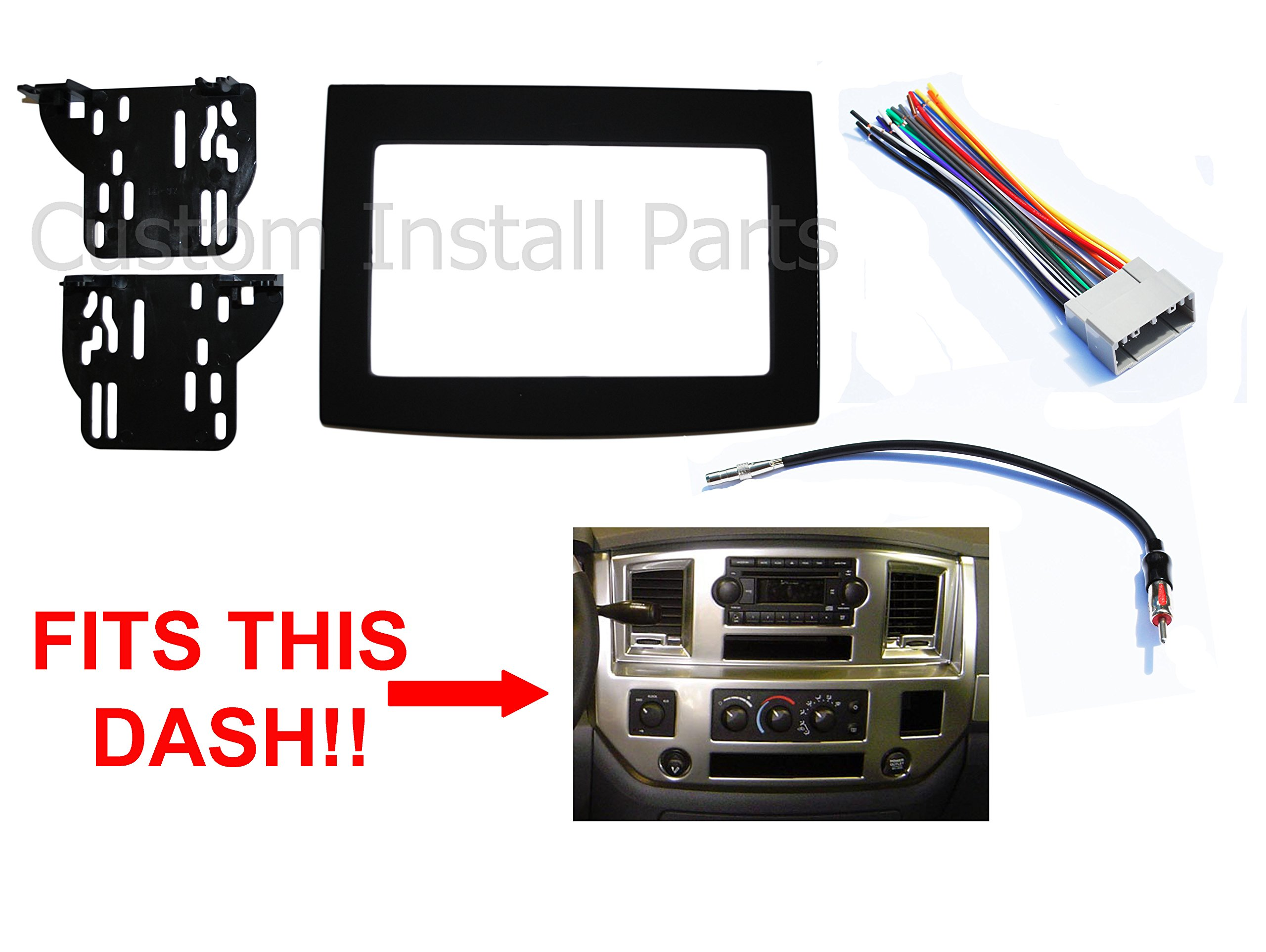 [NRIO_4796]   Amazon.com: Black Radio Stereo Double Din Dash Install Kit w/Wiring Harness  Compatible with Dodge Ram 2006-2010: Car Electronics | 2008 Dodge Ram Wiring Harness |  | Amazon.com