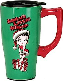 Betty Boop Christmas Mug, 14 ounces, Green