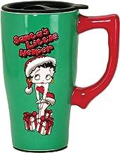 "Betty Boop 12188 Christmas, Green Santa Travel Mug, 5.2"" x 3.5"" x 6.5"","