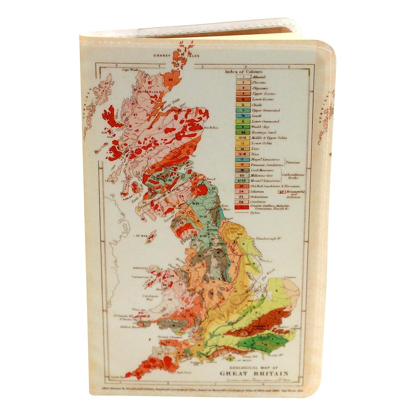 GREAT BRITAINマップCovered Moleskineノートブック