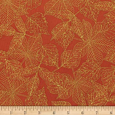 Kaufman Wildwood Grace Leaves Spice Quilt Fabric By The Yard