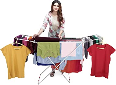 LiMETRO STEEL Stainless Steel Cloth Drying Stand Cloth Stand for Drying Clothes Steel