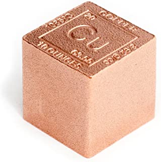 Copper Cube Paperweight - 10oz 999 Pure Chemistry Element Design by Metallum Gifts