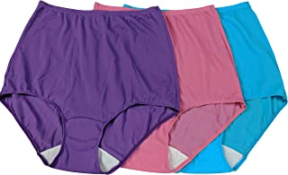 Shadowline Women's Plus Size Panties Comfort Band Briefs (3 Pack)