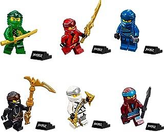 LEGO Ninjago Legacy Minifigure Combo Pack - Lloyd, Jay, Kai, Cole, Zane, NYA (with Weapons and Display Stand)