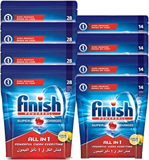 Finish All in 1 Dishwasher Detergent Tablets, Lemon, 168 Tablets, 1 Year Supply