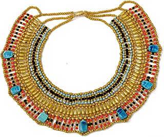 Cleopatra Egyptian Collar Necklace ? Beautiful Costume Jewelry for Halloween Parties and Role Plays ? Realistic Egyptian Design ? Best Cleopatra Accessories by CraftsOfEgypt
