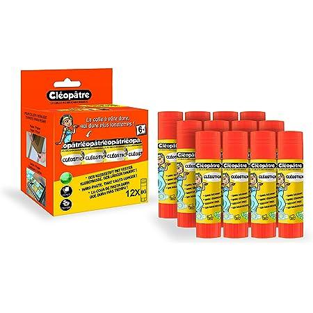 Cléopâtre - Cléo'stick - Boîte de 12 bâtons de colle blanche 8 g