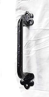 Tirador puerta Herrajes forja granero rustico gran Tirador, mango de hierro armario habitación negro