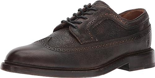 FRYE Men's Jones Wingtip Oxford, Dark marrón, 9 Medium US