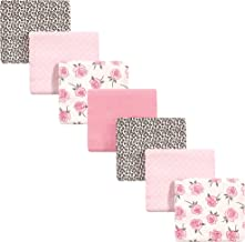 Little Treasure Unisex Baby Cotton Flannel Receiving Blankets, Rose Leopard 7-Pack, One Size