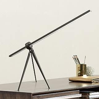 Telly Modern Desk Table Lamp LED Black Tripod Swivel Head Touch Dimmer for Bedroom Bedside Office - 360 Lighting