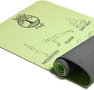 Bodie Yogi Yoga Pose Mat (Lime Green)