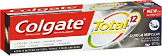Colgate Total Charcoal Toothpaste Deep Clean Antibacterial Fluoride Toothpaste 115g