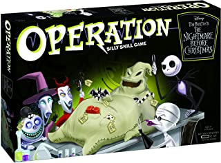 Operation Disney The Nightmare Before Christmas Board Game | Collectible Operation Game | Featuring Oogie Boogie & Nightmare Before Christmas Artwork