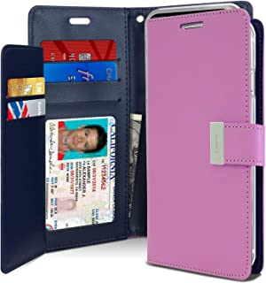 iPhone Xs Case, iPhone X case [Drop Protection] Goospery Rich Diary [ID/Card & Cash Slots] Premium PU Leather Wallet Case [Magnetic Closure] Flip Cover for Apple iPhone Xs/X (Purple) IPX-RIC-PPL