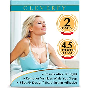 Cleverfy Chest Wrinkle Pads Sleeping (2 Pack T-shape ) - Decollete Anti Wrinkle Chest Pads - Silicone Chest Wrinkle Pad - Anti Wrinkle Pads - Silicon Chest Wrinkle Pads for Chest Wrinkle Prevention