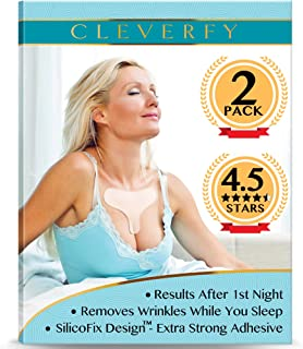 Cleverfy 2 PACK of Silicone Chest Wrinkle Pads - [2x] Decollete Anti Wrinkle Chest Pads - Silicone Chest Wrinkle Pad - Silicon Chest Wrinkle Pads - Anti Wrinkle Pads for Chest Wrinkle Prevention