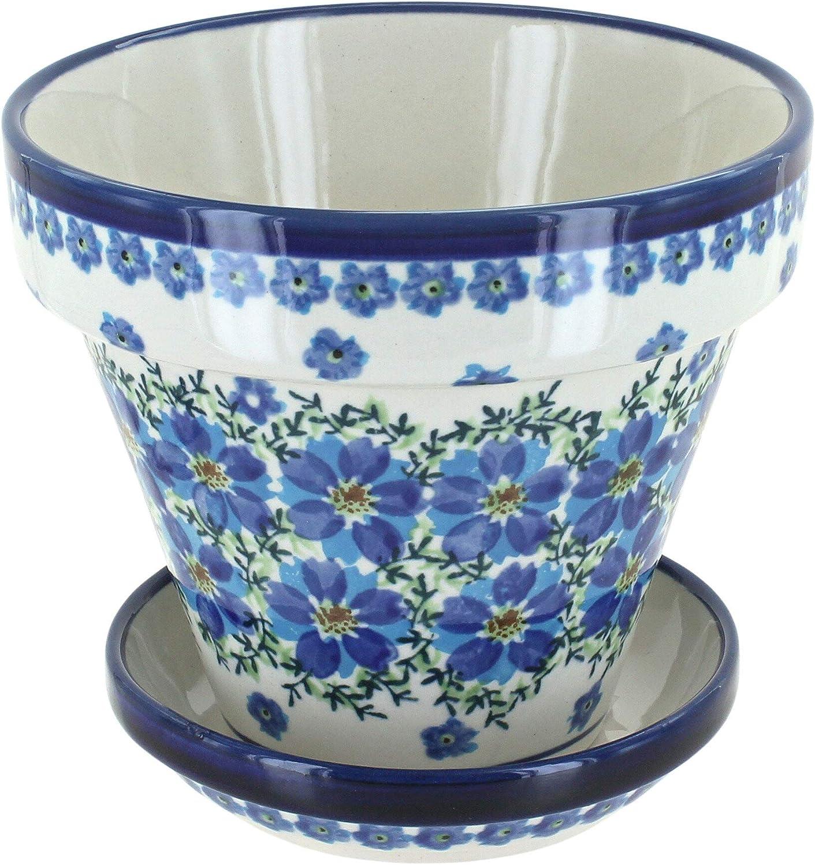 Blue Rose Alternative dealer Polish Pottery Kalina Pot Small Challenge the lowest price Flower