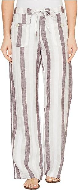 Hudson Gwen Mid Rise Wide Leg Linen Pant Clothing At 6pm Com